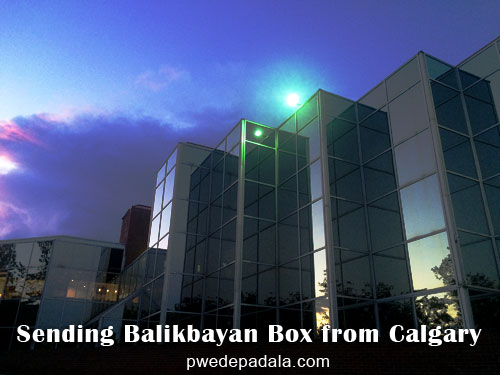 Balikbayan Box from Calgary