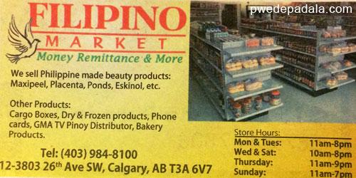Filipino Market in Calgary