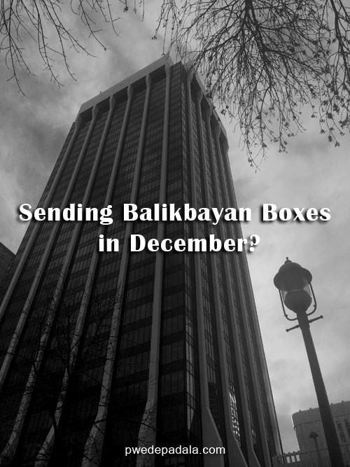Sending Balikbayan Boxes in December