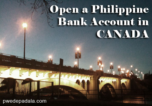 Open a Philippine Bank Account in Canada