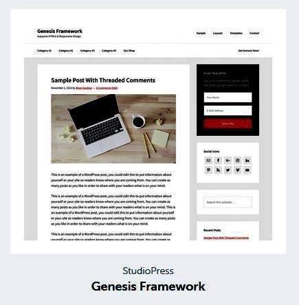 Genesis Framework - WordPress Blog Theme