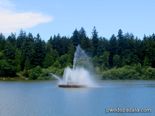 Fountain at Lost Lagoon in Stanley Park