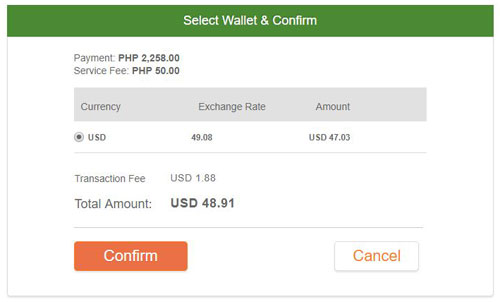 Confirm Online MP2 Payment on PayPilipinas