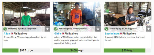 Filipino Borrowers on Kiva