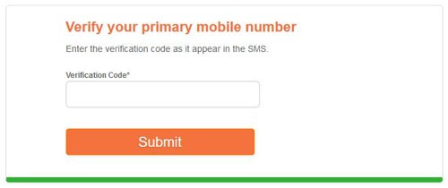 Verify Primary Mobile Number