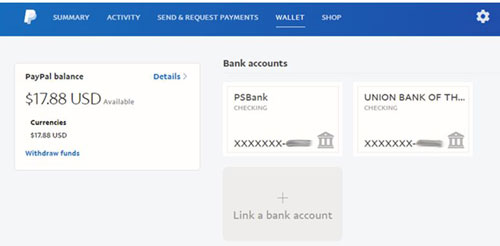 Link Bank Account to PayPal Wallet