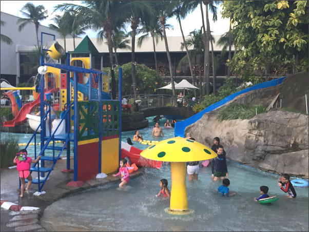 Outdoor kiddie pool at Sofitel Manila