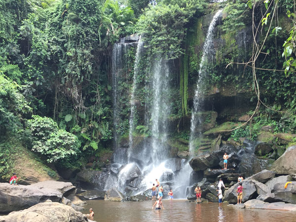 Phnom Kulen Waterfall in Siem Reap