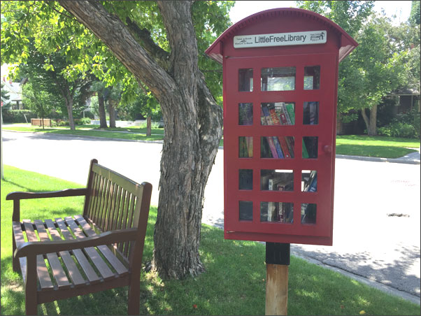 Little Free Library at Calgary, Alberta