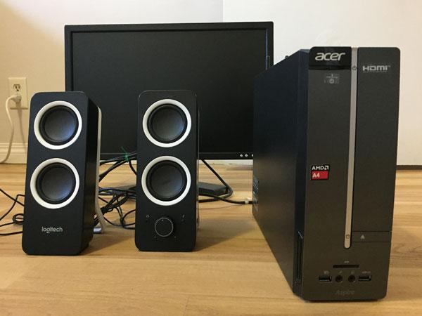 Desktop computer setup