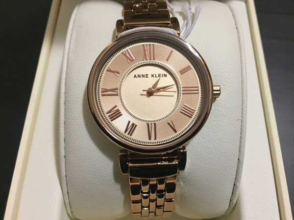 Anne Klein women's bracelet watch in rose gold