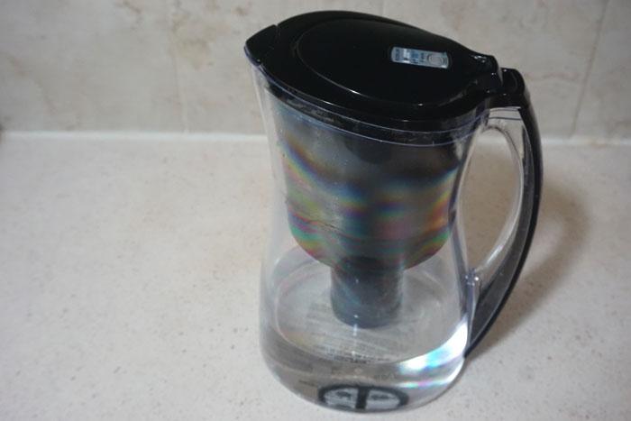 Black Brita Filter Pitcher with water