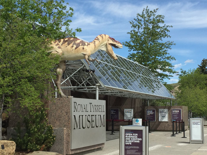 Facade of Royal Tyrrell Museum